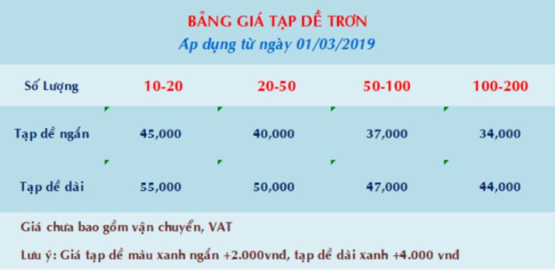 Bảng giá tạp dề đen giá rẻ tphcm